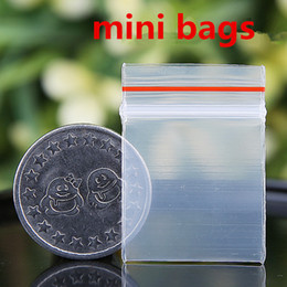 Wholesale grip bags - Red Grip Clear Mini Miniature Zip Lock Plastic Packaging Bags Food Candy Jewelry Reclosable Thick PE Self Sealing Small Package Storage Gift
