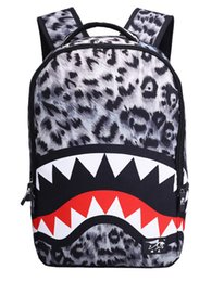 Wholesale Cool Canvas Prints - 3D Print Backpack Cool Schoolbag for Students Fashion Shark book bag for Boys and Girls