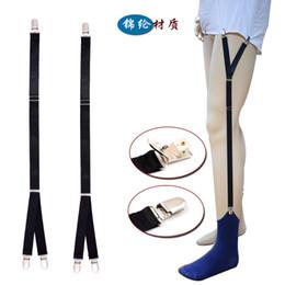 Suspensórios on-line-Camisa dos homens novos permanece ligas suspensórios para camisas cavalheiro perna cintas moda homens camisa suspensórios liga titular negócio