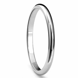 Wholesale Womens Vintage Ring - White Tungsten Carbide Wedding Ring Engagement Bands Vintage Mens Womens 2, 3, 4, 5, 6mm High Polish Dome Wedding Band fashion Jewelry