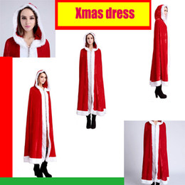 Wholesale Santa Sexy Outfits - Christmas Party Costumes Little Red Riding Hood cloak Chrismas costume cosplay cloak sexy adult women's sexy outfit Xmas dress