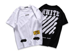 Wholesale Black Triangle Top - Summer Men T Shirt Classic Triangle Printed Hip Hop Style 100% Cotton Loose Short Sleeve Tops Tee High Quality off white T Shirt