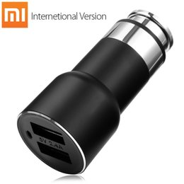 Wholesale Android Iphone App - Xiaomi Roidmi 2S Bluetooth V4.2 Car Charger Hands-free Call FM Transmitter 5V 2.4A Output APP Real-time Monitor for iOS   Android 184452801