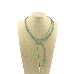 Wholesale Faux Suede Necklace - Multicolor Handmade Jewelry Faux Suede Choker Necklace for Women Fashion Jewelry Gift for Girl Jewelry Accessory Wholesale