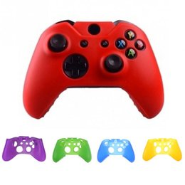 Cubiertas de xbox online-Para Xone Soft Silicone Gel Flexible Funda de piel protectora de goma para Xbox One S Controlador Slim Grip Cover