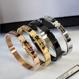 Wholesale Twisted Chain Bracelet - New Korean Fashion Couple Bracelet Couple Titanium Steel Rose Gold Bracelet Love Oath Bracelet wholesale free shipping