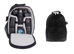 Wholesale Dslr Camera Bag Backpack - 2017 Digital DSLR Camera Bag Waterproof Photo Backpack Multi Functional Photography Camera Video Bag Small Travel Backpack