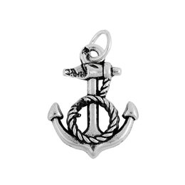 Wholesale Anchor Charm Tibetan - Tibetan Silver Plated Anchor & Gold and Silver Plated Metal Bus Charms Zinc Alloy Charms for DIY Jewelry Making 100PCS A Lot