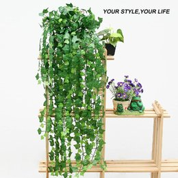 Wholesale Wholesale Artificial Plants Ivy - Wholesale-New 8.2 Feet Artificial Ivy Leaves Flower Vine Home Decor Party Wedding Decoration Mariage Fake Artificial Plants