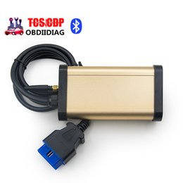 Wholesale Porsche Gold - Gold color 3 in 1 TCS with OKI chip Bluetooth 2014.R3 software free keygen gold TCS CDP PRO for cars trucks diagnostic tool