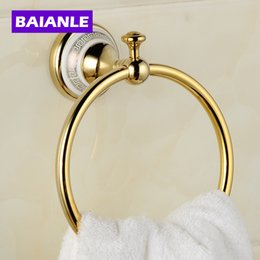 Copper Ceramics Gold Bronze Finished Towel Ring,Towel Holder,Towel Bar Bathroom  Accessories Useful For Bathroom UK