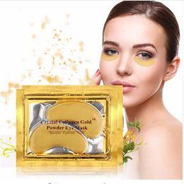 Wholesale Fast Sheets - 5000 Pack Hot Brand New Crystal Collagen Gold Powder Eye Mask Crystal Eye Mask Eyes masks FREE FAST SHIPPING