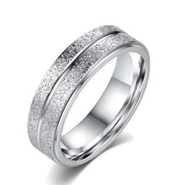 Wholesale Cheap Titanium Rings For Men - Fashion Cheap Silver Gold Titanium Steel Ring For Women Men Jewelry Couples Stainless Steel White Ring R140
