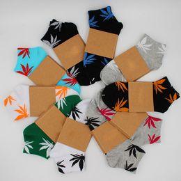 Wholesale Wholesale Satin Chiffon - Free shipping christmas plantlife socks for men women high quality cotton socks skateboard hiphop maple leaf sport socks wholesale TA206