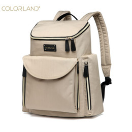 Wholesale Diaper Pails - Wholesale- COLORLAND Backpack Diaper Bag Baby Tasche For Mom Backpack Nappy Mummy Maternity Pail Bag Waterproof Baby Backpacks Diaper Bags