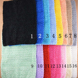 Wholesale tutu crochet headband wholesale - 12inch Baby Girl Elastic Chest Wrap Infant Waffle Crochet Headband Baby Rayon Tutu Tube Tops Girl Hairband 24 cmx32cm 20 color