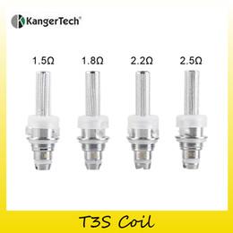 Wholesale Kangertech T2 Wholesale - Authentic Kangertech T3S Coil Head 1.5ohm 1.8ohm 2.2ohm 2.5 ohm Replacement Coils Head For Originsl T3S&MT3S&T2 Tank 100% Genuine 2211057