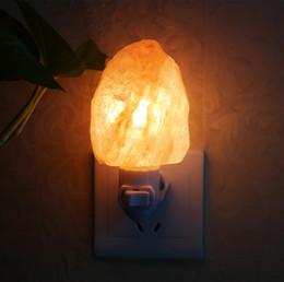 Luz decorativa de cristal de parede on-line-Natural Himalaia Parede Salt Night Light Nursery Lâmpada Mini Cristal Decorativo Night light Iluminação lâmpada de Sal com EUA plug