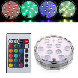 Wholesale Submersible Led Lights Flowers - 5050 smd 10 LED Submersible Light Kit, Submersible flower design,creating multicolor lighting effect Wedding Birthday Party Decoration
