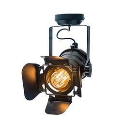 Luces de techo de hoja online-Luz de techo vintage Industrial de cuatro hojas de hierro ajustable Luz para iluminación de sala Luz de techo CL134 Envío gratis