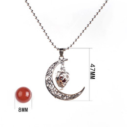 Wholesale 16mm Stainless Steel Necklace - Water Drop chakra Harmony Pendant 16mm Angel Ball Chime Ball Mexican Nekclace Pregnant Women Jewelry moon represents my heart