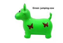 Wholesale Riding Horses Toys - Wholesale Children's Kids inflatable Toy jumping horse jumping deer jumping cow 55*50*30cm thickening Increased PVC toys Children horse Ch