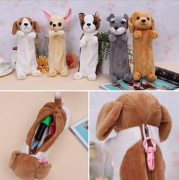 Wholesale Case Dog Cute - 2017 New Cute Cartoon Puppy Pencil Case Dog Pencil case Kawai Pencil Bag Pen Bag School Supply Supplies Escolar Papelaria