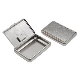 Wholesale Stainless Steel Storage Boxes - 1 X Stainless Steel Metal Cigarette Tobacco Box For 77MM Cigarette Paper Storage Case Can Customize Your Logo