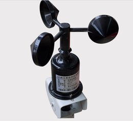 Wholesale Speed Sensor Signal - wind speed sensor digital RS485 or pulse signal 3 cup structure transmitters with 2.5m cable