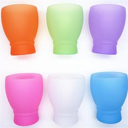 Wholesale Silicone Glass Shot - Silicone Wine Glass Unbreakable Stemless Rubber Beer Mug Outdoor Cup shot Glass Wine Glass Recyclable Drinking Cups