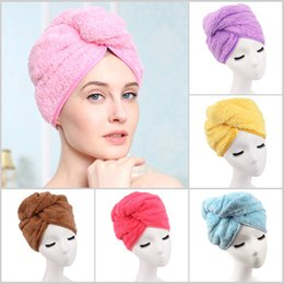 Wholesale Shower Head Cap - Wholesale- 1PCS Shower Cap Super absorbent Hair Towel Turban Hair-Drying Cap Hat Head Wrap Quick Dry Bathroom Tools C