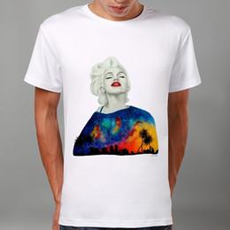 Wholesale Colorful Marilyn Monroe - Men Fashion Colorful Marilyn Monroe Print Summer T-shirt Funny T Shirts Short Sleeve Tee Shirt Tops Clothes Men's T-Shirt