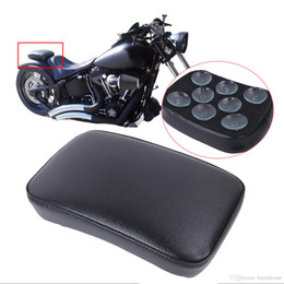 Wholesale 883 Iron - Passenger Pillion Rear Seat For Harley Davidson Sportster 883 1200 Iron XL883 XL1200R Suction Cups Cushion Saddle #MB143