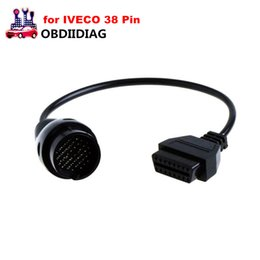 Wholesale 38 Pin Diagnostic Connector - for IVECO 38 Pin OBD2 Diagnostic Cable Adapter For IVECO 16Pin OBDII Connector Car Diagnostic Tool for Iveco 38Pin ODB2 Cable