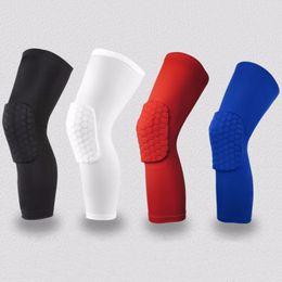 Wholesale Knee Sleeve Sock - Wholesale- 2pc Socks Honeycomb Sport Safety Basketball Knee Pads Padded Knee Brace Sleeve Protector Sports Kneepad Free shipping