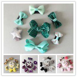 Wholesale Handmade Crown Baby - Cute Baby Girls Handmade Clips sets Blingbling Ribbon Bowknot Crochet Flower Barrette Lace Hairpin Pretty Star Crown hair Accessory sets 5