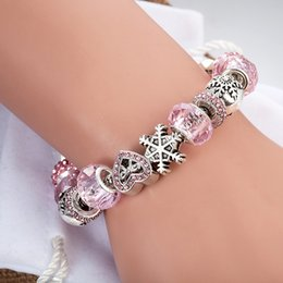 Wholesale Men Pandora Bracelet - DIY Style Silver Plated Beads Charms Snake Chain Men Bracelet for Pandora Bracelet European Bead Bracelet Accessories