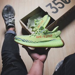 Wholesale New Winter - 2017 Best Quality SPLY-350 Boost V2 New Kanye West Boost 350 V2 SPLY Running Shoes Beluga 2.0 Semi Frozen Blue Tint With Box