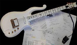 Wholesale diamond black string - Rare Schecter Diamond Series Prince Cloud Apline White Electric Guitar Black Symbol Fingerboard Inlay Multi Color Available Instock For sale