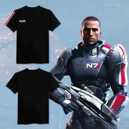 Wholesale Military Shirts Women - N7 Mass Effect 3 T-Shirt Systems Alliance Military Emblem Tee Men Women Summer Short Sleeve T Shirts Fashion Hip Hop Tops