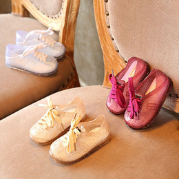 Wholesale Gold Baby Sandals - 2017 Summer Fashion New Children Casual Shoes baby gold Sandals Girl Princess Shoes boys girls sneaker Footwear wear Sneakers Lovekiss A31