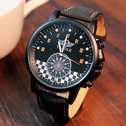 Wholesale Free Personality Glasses - 2017, best-selling brand personality, military men's quartz watches, waterproof leather clock, high quality, free shipping