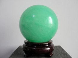 Wholesale Green Fluorite Crystal - 90MM Glow In The Dark Natural Green Fluorite Magic Crystal Healing Ball + Stand