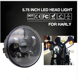 "Wholesale Led For Motor Bike - Headlight H4 5.75"" 40W Cree Chip High Low Beam 20W Led Headlamp Motorcycle Headlights For Harley Motor Bike 9V 12V"