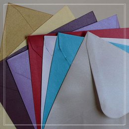 Wholesale Vip Business Card - Wholesale- 50Pcs 14*14cm square pearl paper luxury Envelopes for Business VIP Card Small Wedding Party Invitation Card Envelopes
