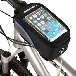 """Wholesale Dirt Bike Tubes - Roswheel 5.5"""" Inch Dirt-resistant Muti-color Cycling Bike Bicycle Front Phone Bag Tube Bag Pouch Case"""