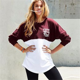 Wholesale Hoodies Sweatshirts Fashion Girls - 2017 New Arrival VS Love Pink Women Hoodies Pullover Jogging Casual Sweatshirt Tumblr Harajuku Teen Girls Tee Tops Clothing Plus Size
