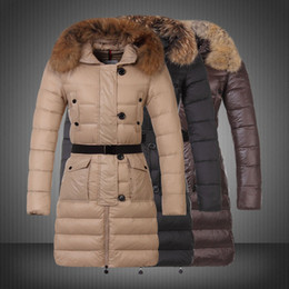 Wholesale Girls Goose Down Coats - Women's Down Jacket Coat Real Fur Collar Long Style Winter Women Coat Lady Girls Down Waistcoat Winter Clothing