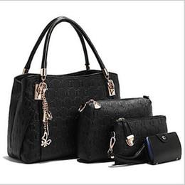 Wholesale Bagpack Outdoors - White Bag Women luxury Messenger PU Casual Outdoor Totes Bags Buy 1 get 3 Women Black Fashion handbag shoulder Clutch Bag Bagpack designer