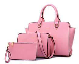 Wholesale Leather Women Bags Online - New Arrival Handbag+Shoulder Bag+Cluth 3pcs A Lot Elegant Designer Handbag Set For Woman Online Shopping PU Leather Lady Handbag Wholesale